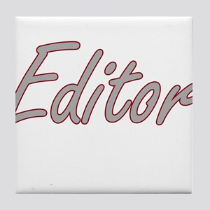 Editor Artistic Job Design Tile Coaster