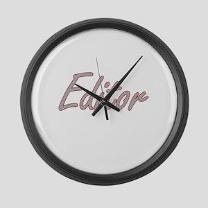 Editor Artistic Job Design Large Wall Clock