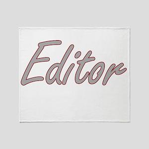 Editor Artistic Job Design Throw Blanket