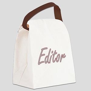 Editor Artistic Job Design Canvas Lunch Bag
