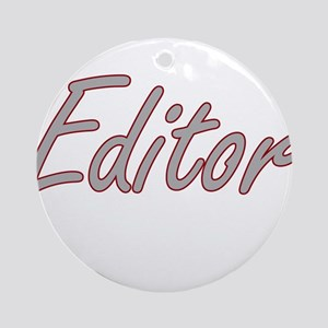 Editor Artistic Job Design Ornament (Round)
