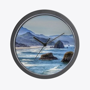Rockaway Beach on the Oregon Coast Wall Clock