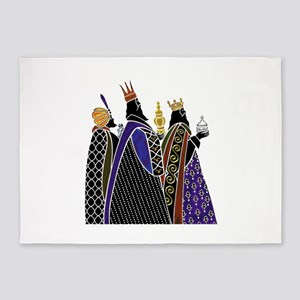 Three Magi Bearing Gifts 5'x7'Area Rug