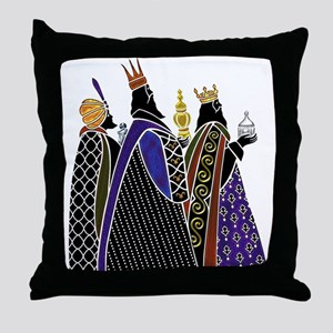 Three Magi Bearing Gifts Throw Pillow