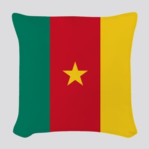 Flag of Cameroon Woven Throw Pillow