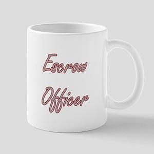 Escrow Officer Artistic Job Design Mugs