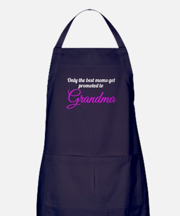 Promoted To Grandma Apron (dark)