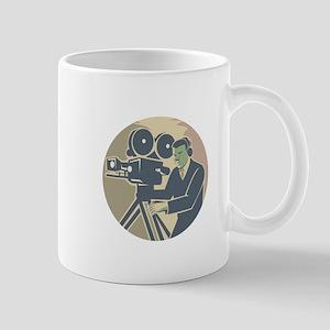Cameraman Moviemaker Vintage Camera Retro Mugs
