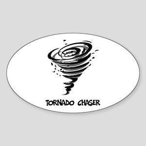 Tornado Chaser Oval Sticker