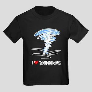 I Love Tornado Kids Dark T-Shirt