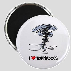 I Love Tornado Magnet