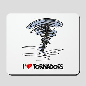 I Love Tornado Mousepad