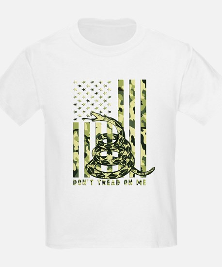 Don't Tread on Me Camo American Flag T-Shirt