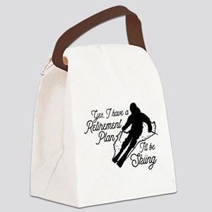 Skiing Retirement Plan Canvas Lunch Bag