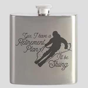Skiing Retirement Plan Flask