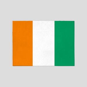 Ivory Coast Flag 5'x7'area Rug