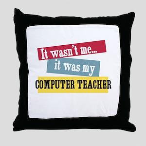 Computer Teacher Throw Pillow
