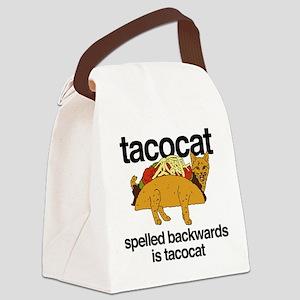 Tacocat Spelled Backwards Canvas Lunch Bag