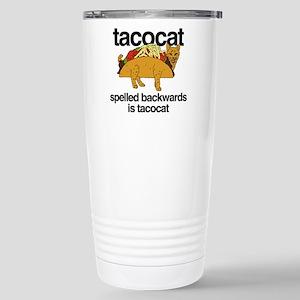 Tacocat Spelled B 16 oz Stainless Steel Travel Mug