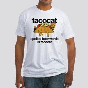 Tacocat Spelled Backwards Fitted T-Shirt