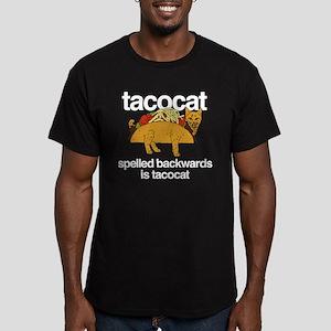 Tacocat Spelled Backwa Men's Fitted T-Shirt (dark)