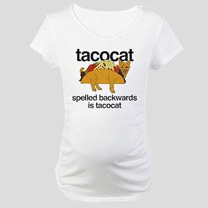 Tacocat Spelled Backwards Maternity T-Shirt
