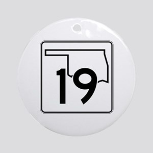 State Highway 19, Oklahoma Ornament (Round)