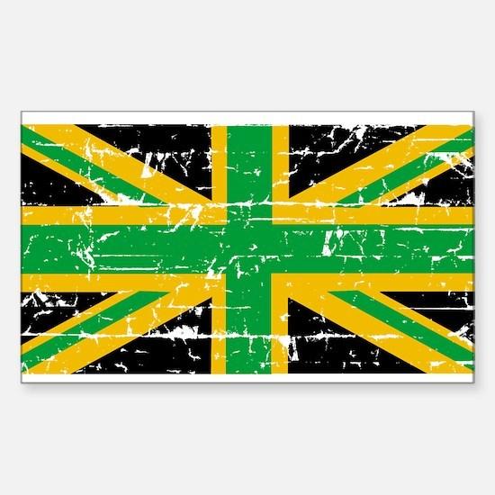 British Jamaican Rectangle Decal
