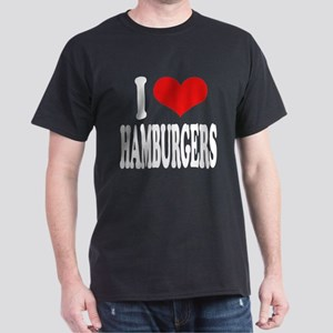 I Love Hamburgers (word) Dark T-Shirt