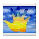 87.cloudzsunsethand.. Tile Coaster