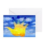 87.cloudzsunsethand.. Greeting Cards (Pk of 10