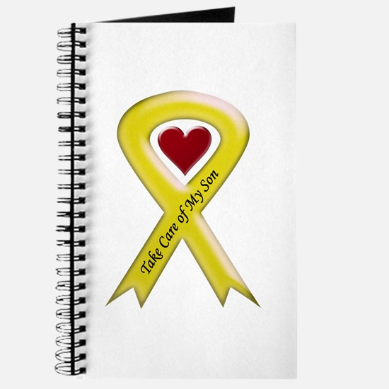 Take Care of my Son Yellow Ribbon Journal