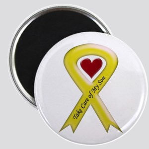 Take Care of my Son Yellow Ribbon Magnet