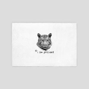 White Tiger i am precious 4' x 6' Rug