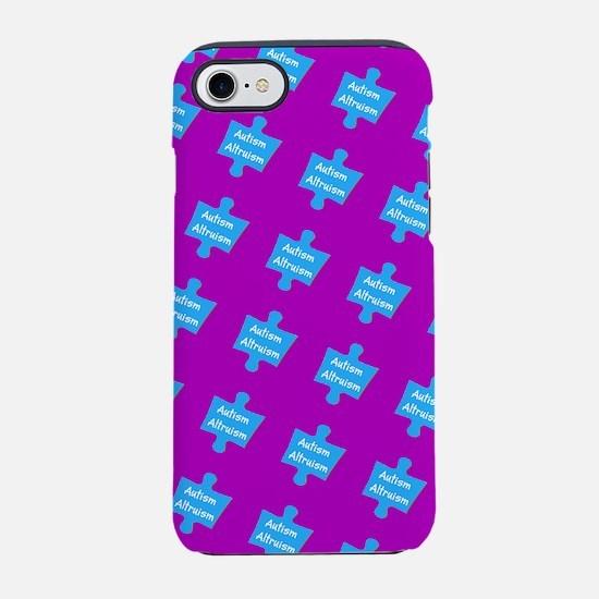 Autism Altruism Purple Blue Pu iPhone 7 Tough Case