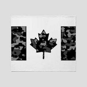 Canadian Flag Rocks & Ice & Mountain Throw Blanket