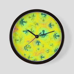 Random octopuses Wall Clock