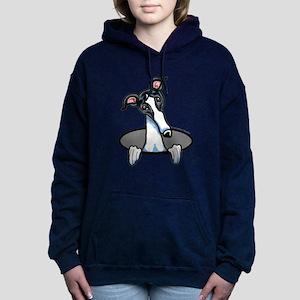 White Black Greyhound Sweatshirt