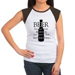 beer because your frie Junior's Cap Sleeve T-Shirt