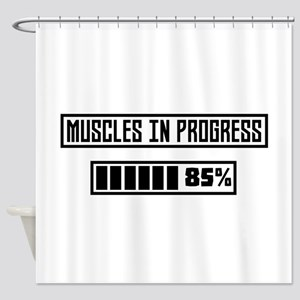 Muscles in Progess workout Cpf7n Shower Curtain