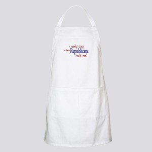 I Only Cry Republicans BBQ Apron