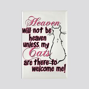 Heaven with no cats? Rectangle Magnet