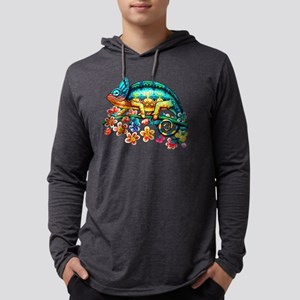Colorful Camouflage Chameleon Long Sleeve T-Shirt