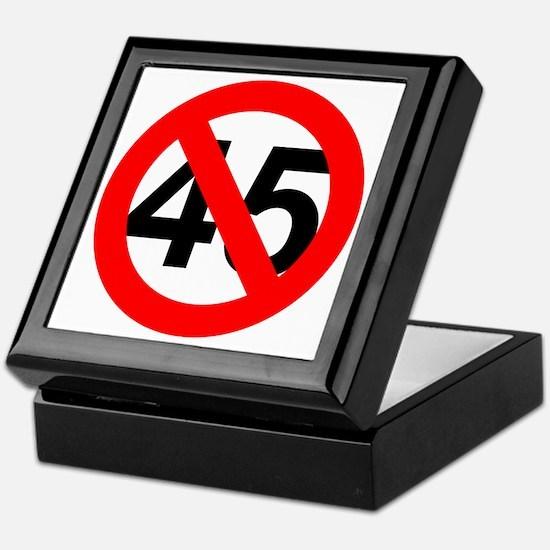 Funny 45 Keepsake Box