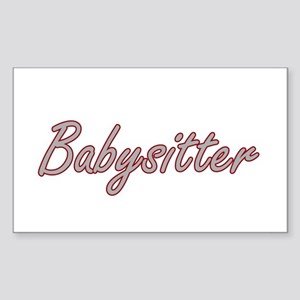 Babysitter Artistic Job Design Sticker