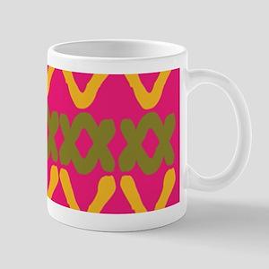Hot Pink Indian Print Mugs
