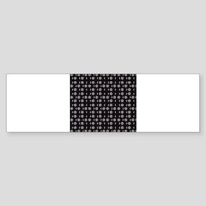 Black Gray Shapes 4Barney Bumper Sticker