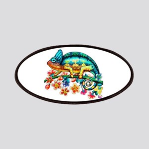 Colorful Camouflage Chameleon Patch