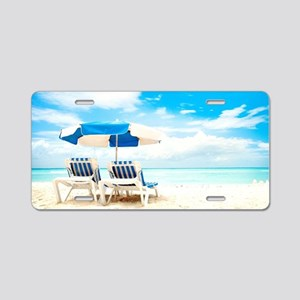 Beach Vacation Aluminum License Plate