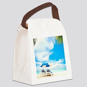 Beach Vacation Canvas Lunch Bag